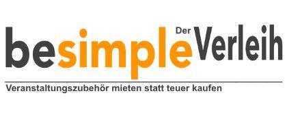 besimple Der Verleih - Veranstaltungszubehör mieten statt teuer kaufen Logo